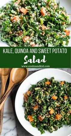 Great Vegetarian Meals, Vegetarian Recipes, Healthy Recipes, Quinoa Salad Recipes, Salad With Quinoa, Recipe For Kale Salad, Quinoa Meals, Salade Kale Quinoa, Kale Salads