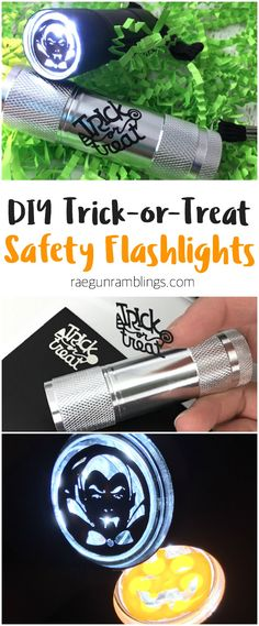 love this easy and cheap idea for diy trick-or-treat safety flashlights