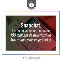 #Snapchat se vuelve el tittán de las #RedesSociales. #Marketing