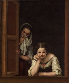 Murillo.  National Gallery of Art.  Two Women at a Window. If you ever see this painting in person you will understand why it is such a remarkable piece of art.