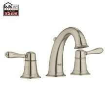 Grohe 20423EN0 Brushed Nickel Fairborn Traditional Widespread Bathroom Faucet with SilkMove Ceramic Disc Cartridge - Free Metal Drain Assembly with purchase - FaucetDirect.com