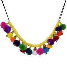 Woolen Neck Piece For Chaniya Choli. #navratri #handmade #jewellery fashionvalley.in