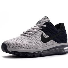 online retailer a4623 653d3 Nike Air Max 2017 Men Black Grey Running Shoes