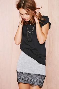 Lace to the Finish Skirt - Skirts