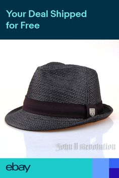 c116952022a J2R Hemp Jute Straw Type Fedora Trilby Beach Hat Men Women Accessory JRJ019