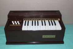 Electric organ; wow, we drove mom crazy with this thing!  lol
