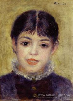 Smiling Young Girl (suzanne Valadon) by  - Pierre Auguste Renoir