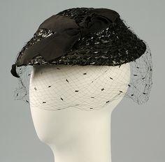 Hat Designer: Rose Valois  Date: ca. 1935 Culture: French Medium: Straw, silk Accession Number: 2009.300.5544