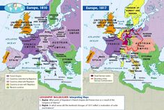 Europe 1810 and 1817 Compared