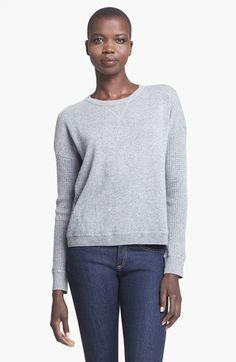 autumn cashmere Thermal Cashmere Sweatshirt | Nordstrom