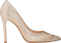 Gianvito Rossi Women's Crystal-Embellished Pumps-Colorless