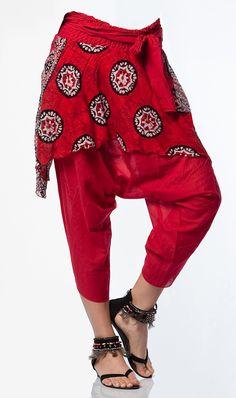 0413 Edgy Outfits, Cool Outfits, Indiana, Harem Pants, Trousers, Lucky Colour, Chula, Boho Fashion, Womens Fashion