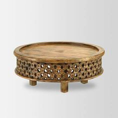Carved Wood Coffee Table, Raw Mango - west elm - $349 - domino.com
