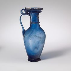 Late Imperia, 3rd–4th century A.D. Culture: Roman, Rhenish , Glass; blown and trailed Metropolitan museum of art
