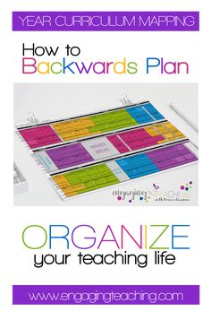 This HOW TO on backwards planning for a successful school year is life changing! I cannot image beginning a school year without it and it makes my teacher heart SO happy - and ORGANIZED!