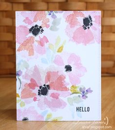 I LOVED Aga's card from this post . It was eye opening for me..I have been practicing those trendy florals from Yoa Cheng's watercolor clas...