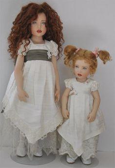 helen kish dolls | Helen kish 1997 porcelain dolls set emilie and juliette layaway ...