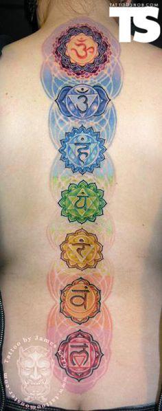 Cool chakra tattoo! Así quiero ...!!!!!!