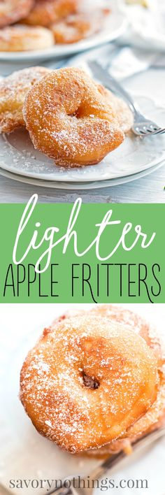 Enjoy this Lighter Apple Fritters recipe at home - it's super easy and the inside is 100% apple! | savorynothings.com