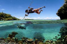 Unique fishing, New Caledonia, southwest Pacific Ocean