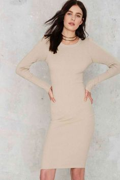 c9785578d6 Knit Your Stride Ribbed Midi Dress
