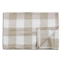 White & Natural Check Tablecloth Homeware Uk, Stone Bowl, Daylesford, White Plates, Kitchen Linens, Design Crafts, Neutral, Colours, Nature