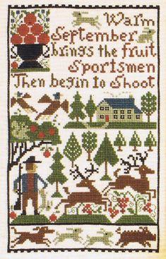 Warm September brings the fruit. Sportsmen then begin to shoot