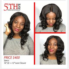 """Custom Unit For SALE $400 call or text 484/219/3686 Specs (3)16"""" (w/14"""" Lace Closure) Natural Hair color 1b Bleached Knots on Elastic Band (extra security) Spandex Cap (perfect fit) hand sewn(No Glue/adhesives by hairman_247"""