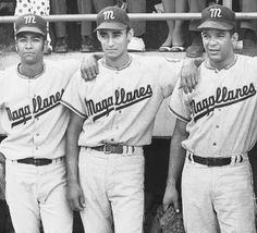 El equipo venezolano Navegantes del Magallanes campeon de la Serie del Caribe 1970.  En la grafica, Damaso Blanco, Jesus Aristimuño y Gustavo Gil. 9 de febrero de 1980 (ARCHIVO EL NACIONAL)