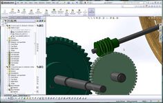 SolidWorks, Help Tutorial, How to Apply a Mate to a Worm Gear and Pinion