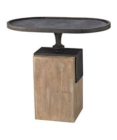Robard Iron & Wood Accent Table | zulily