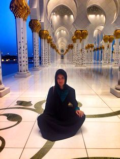 Most beautiful place, the Grand Mosque in Abu Dhabi
