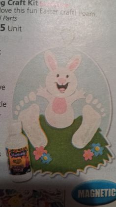 rabbit easter footprint spring