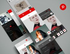 Pinterest-redesign mobile iOS design found on Dribbble.