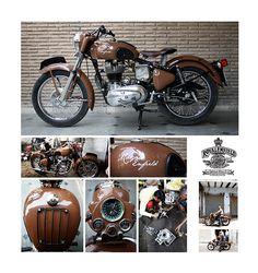 Custom Royal Enfield by sarab , via Behance Enfield Bike, Enfield Motorcycle, Motorcycle Style, Women Motorcycle, Motorcycle Helmets, Bullet Modified, Royal Enfield Classic 350cc, Old Bullet, Custom Bikes