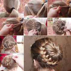 French Braided Bun (Image found on Facebook; origins unknown)