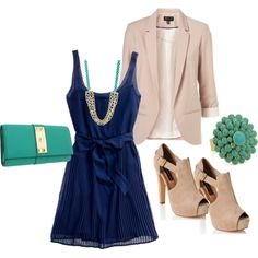 """Navy, Teal, and Neutrals"" - never would have thought of this color combo but i love it!"