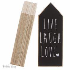 Dots Lifestyle Houtprint Huis - Live Laugh Love -