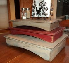 Primitive Table riser by Wildoaks on Etsy, $22.00