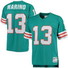 Mens Miami Dolphins Dan Marino Mitchell   Ness Aqua Retired Player Vintage  Replica Jersey e0bd9dc0c