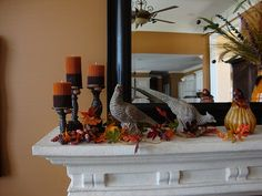 Nice Fall mantel..