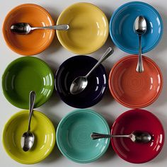 Fiestaware.  Chartreuse and Shamrock are my favorite.