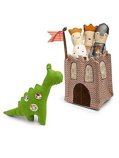Maileg Five-Piece Plush Rattle Castle Set