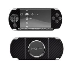 Skinomi Tech Skin Sony Psp 3000 Screen Protector + Carbon Fiber Full Body Skin / Front & Back Premium Hd Clear Film / Ultra Invisible And Anti Bubble Shield With Free Lifetime Replacement