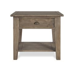 Hugo Side Table - Constructed of reclaimed pine, the Hugo is hand finished and features jigsaw construction made popular in 18th century Ireland, creating a genuine rustic