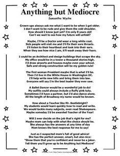 narrative poem brainstorm page