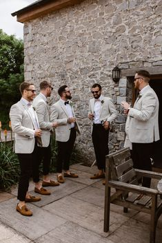 Bohemian Romance - Groom Suit, Dress and Accessories , Bohemian Romance Stylish Cool Groom and Groomsmen, Light jackets and Navy Trouser Suit Bohemian/Urban/Vintage Hochzeit. Groomsmen Outfits, Groom And Groomsmen Attire, Bridesmaids And Groomsmen, Casual Groom Attire, Groom Suits, Groom Attire Rustic, Black Suit Groom, Groomsmen Attire Black, Groomsmen Shoes
