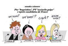 """PaTifarias; PT esquece Dilma, """"golpe"""" e corre para o abraço de Temer"""