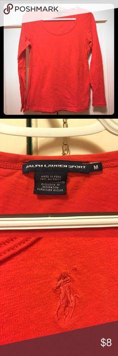 Long sleeve Ralph Lauren shirt Show stopping orange long sleeve Ralph Lauren Sport shirt Ralph Lauren Sport Tops Tees - Long Sleeve