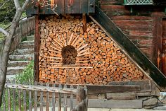 Switzerland: The people in the region are so fastidious about stacking their fireplace wood